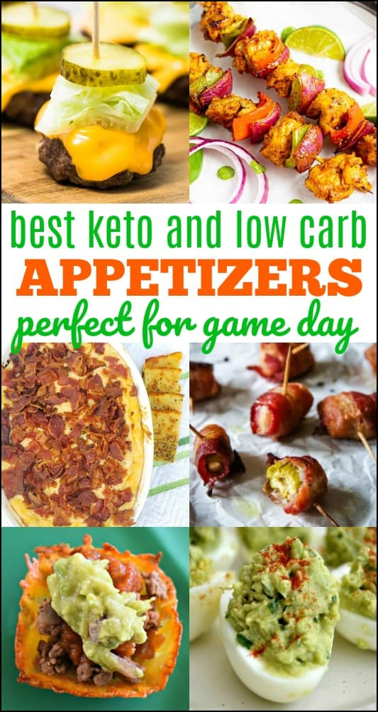 The Best Keto Appetizers for game day or any day! These will help you stay on keto and the great news is that everyone will love them. #keto #ketorecipes #ketoappetizers #lowcarbrecipes