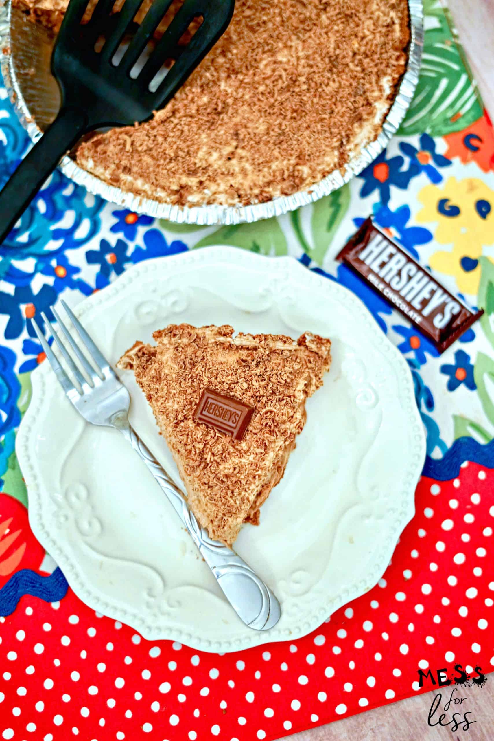 slice of Hershey's Chocolate Pie