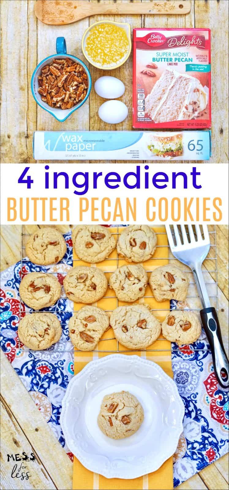 Easy Cake Mix Butter Pecan Cookies