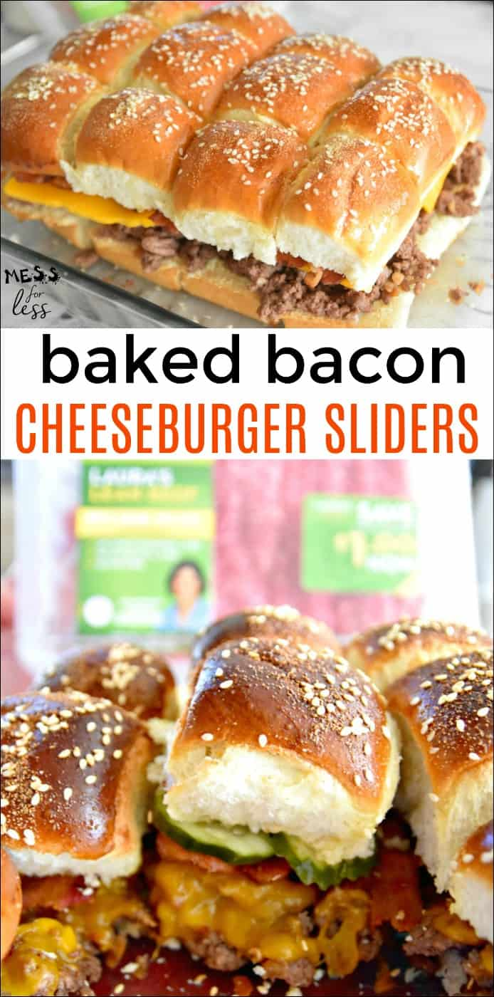 Baked Bacon Cheeseburger Sliders