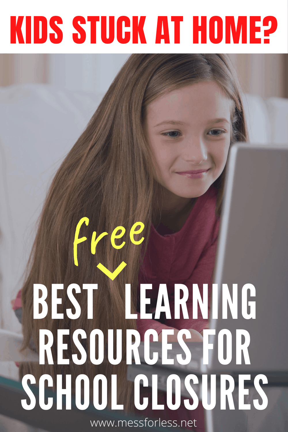 These Free Kids Learning Resources for School Closures will keep kids engaged and learning while they are out of school. Keep their minds sharp during school closings. #freeonlinelearning #Freelearningactivities #learningactivitiesforkids #onlinelearning