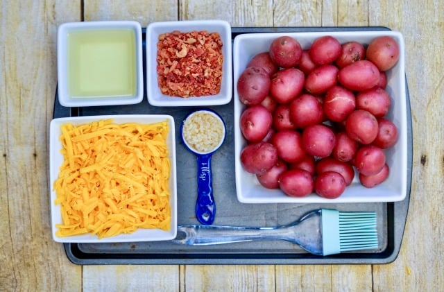 ingredients for loaded smashed potatoes