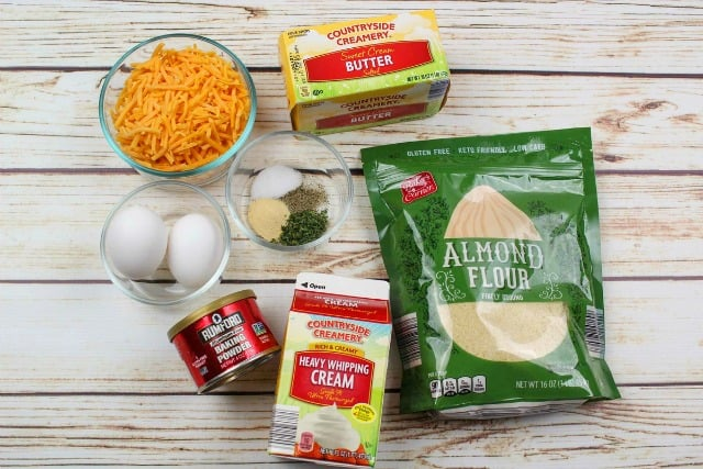 ingredients for cheddar biscuits