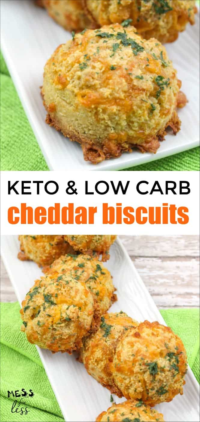 Low Carb and Keto Cheddar Biscuits