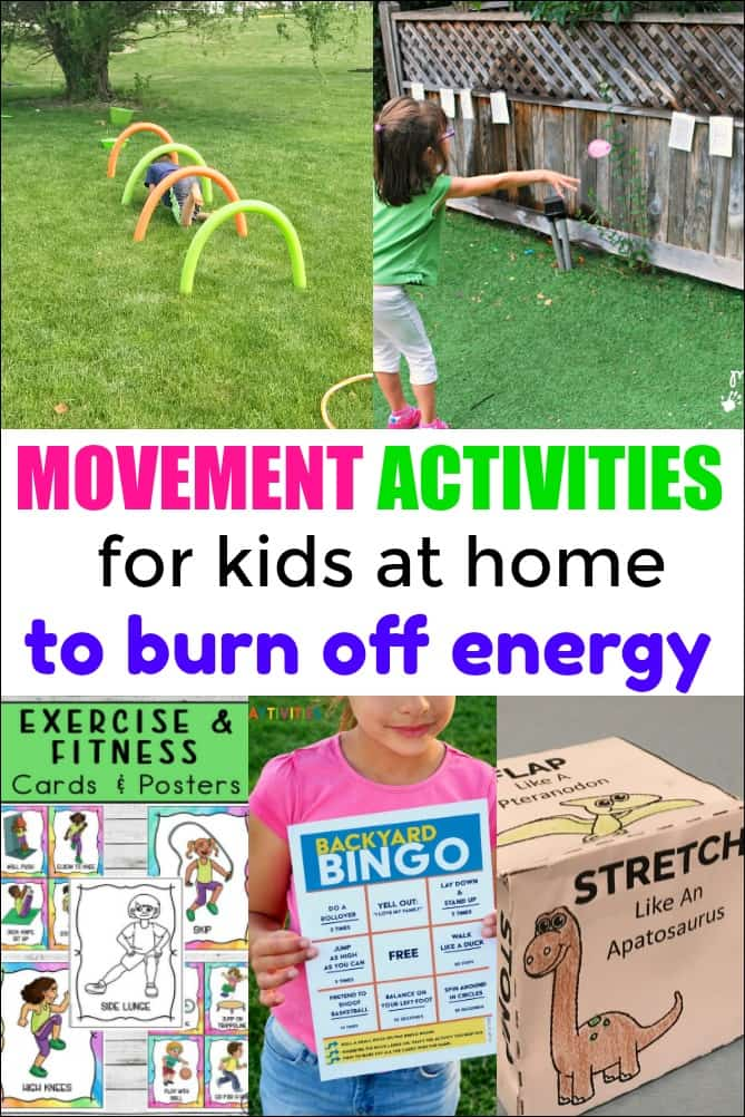 Movement Activities for Kids at Home to Burn Off Energy