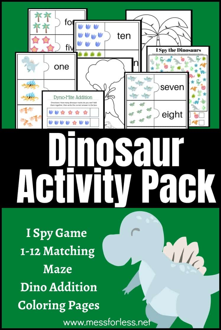 Dinosaur Activity Pack Free Worksheets