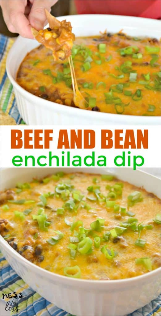 Beef and Bean Enchilada Dip