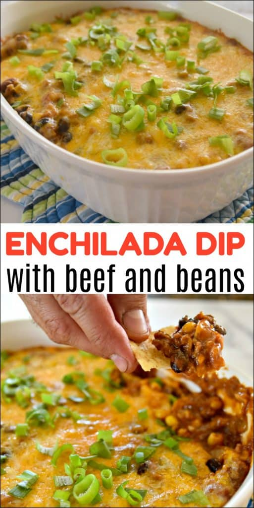 Enchilada Dip with Beef and Beans