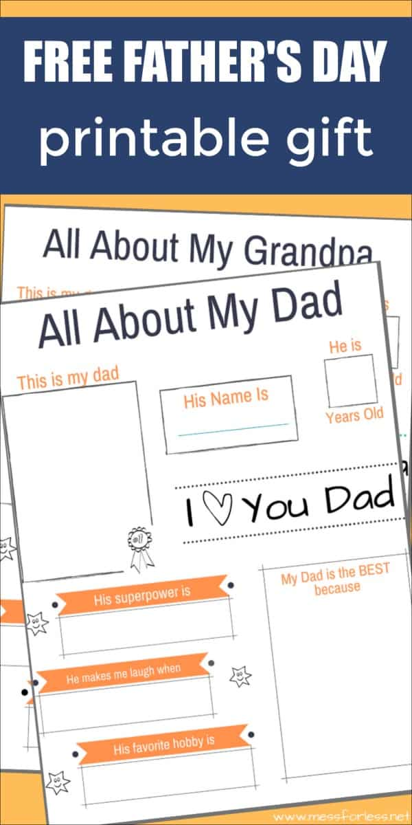 Free Father\'s Day Printable Gift
