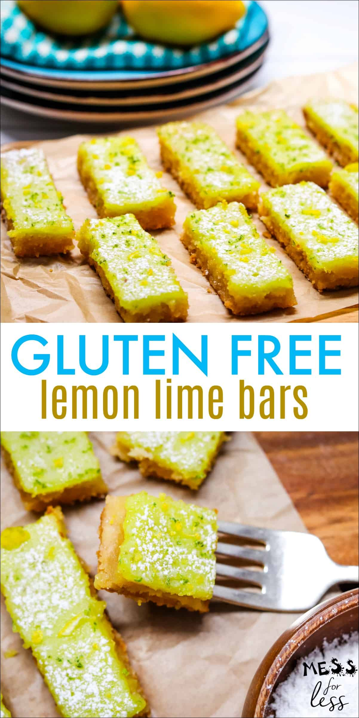 Gluten Free Lemon Lime Bars