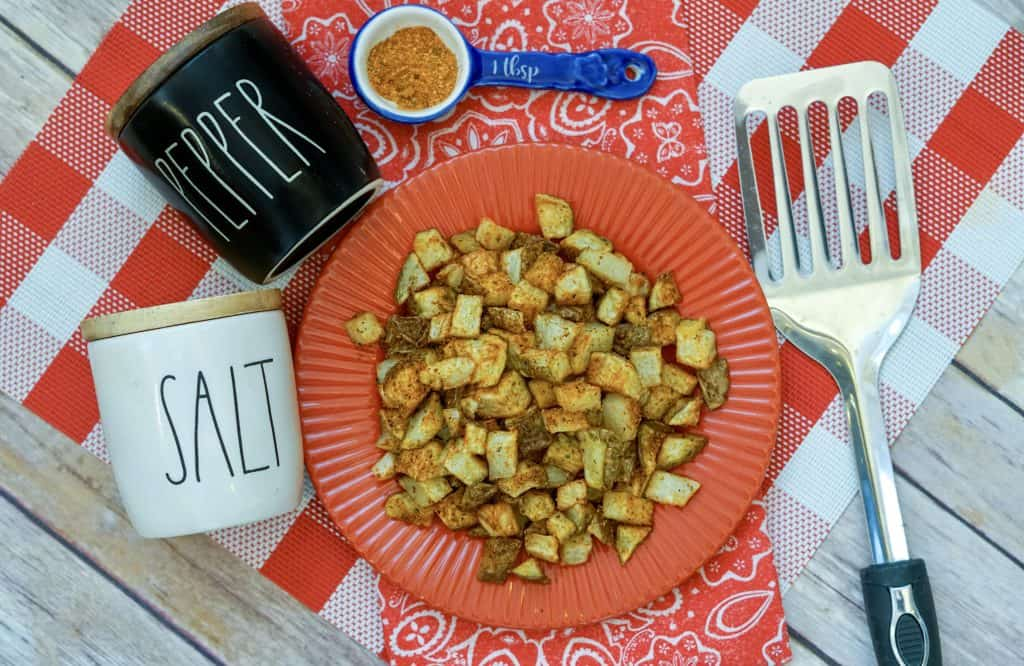 air fryer cajun diced potatoes