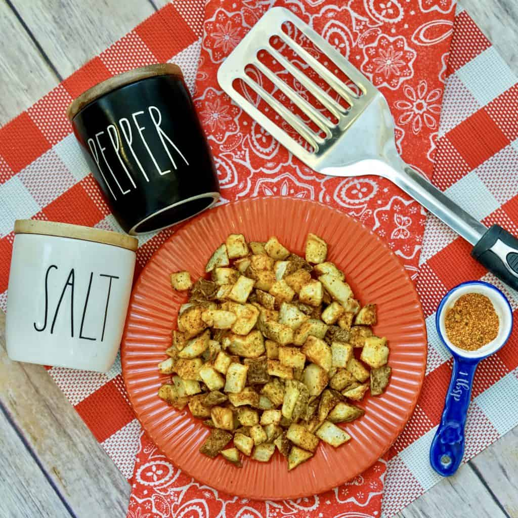 air fryer Cajun potatoes