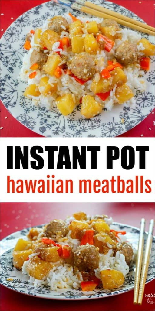 Enjoy the flavor of the islands with these Instant Pot Hawaiian Meatballs. So easy to make and full of flavor! #instantpot #meatballs #easyrecipe