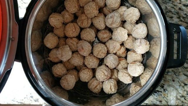 frozen meatballs in the instant pot