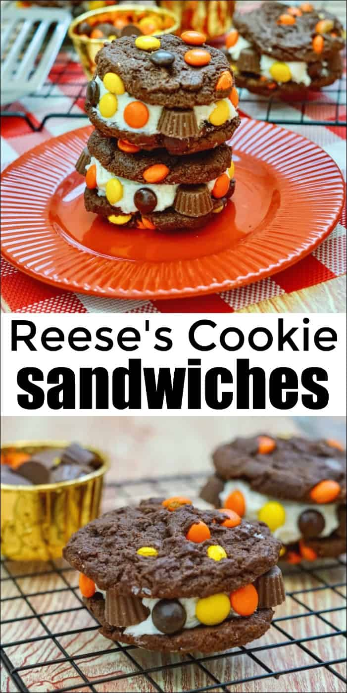 Reese\'s Cookie Sandwiches