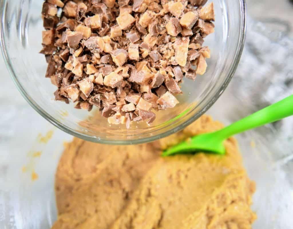adding heath bar to cookies