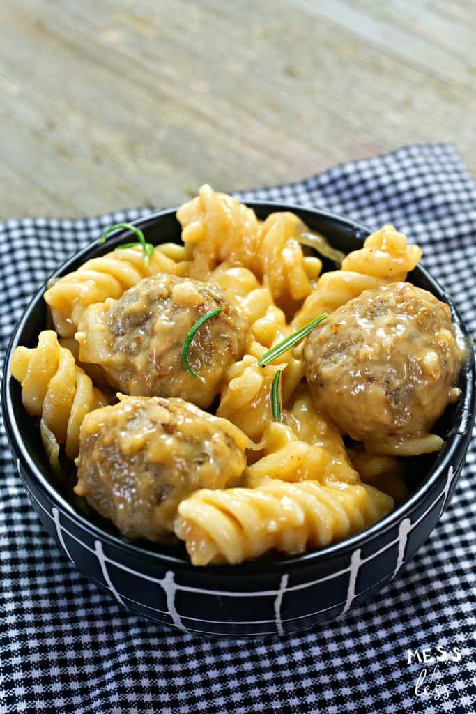 swedish meatballs in a bowl