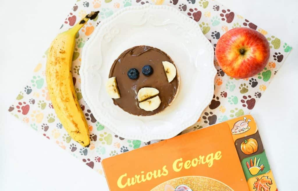 Curious George snack on plate