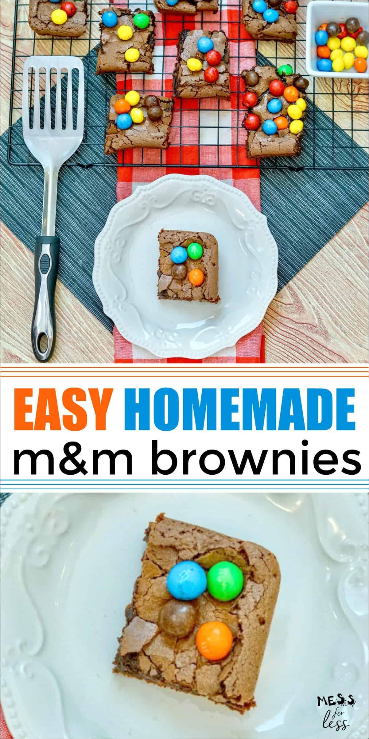 Easy M&M Brownies