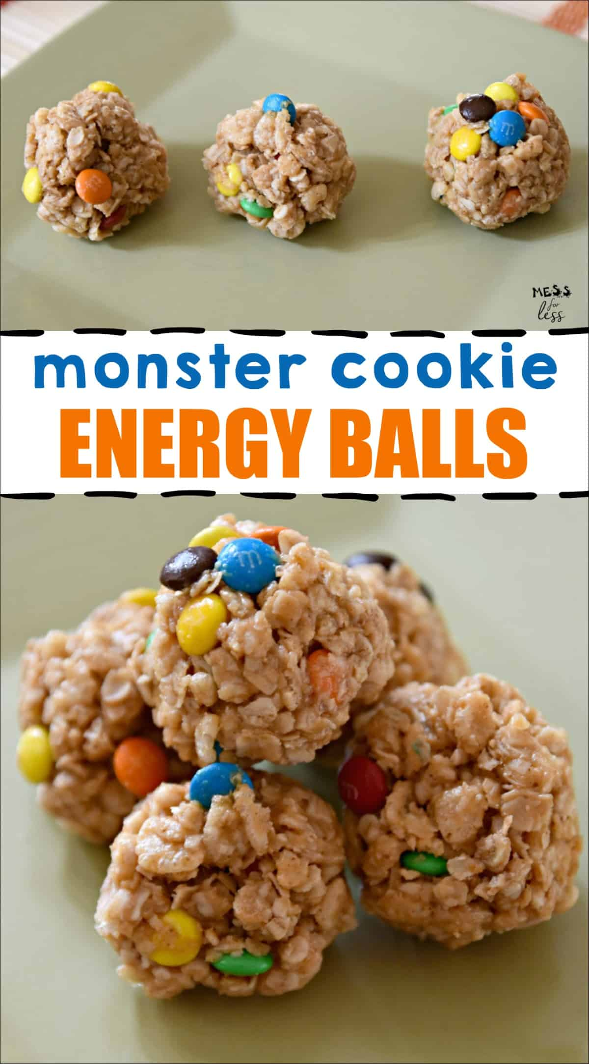 Monster Cookie Energy Balls