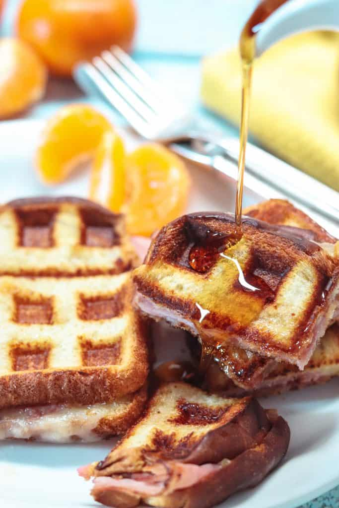 monte cristo sandwich with syrup