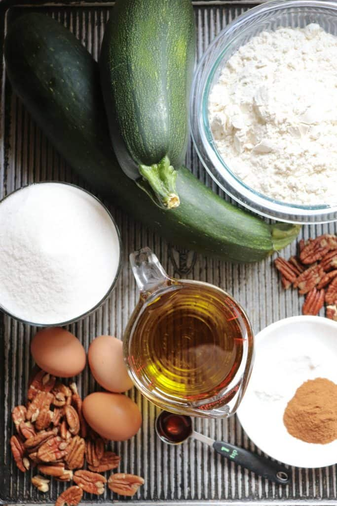ingredients needed for zucchini bread