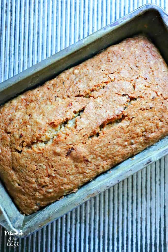 loaf of zucchini bread