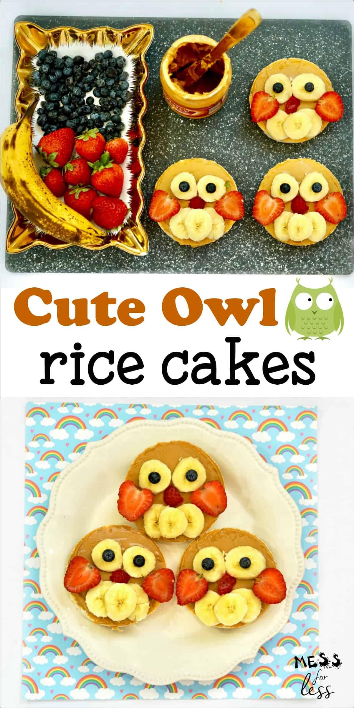 Easy Owl Rice Cakes