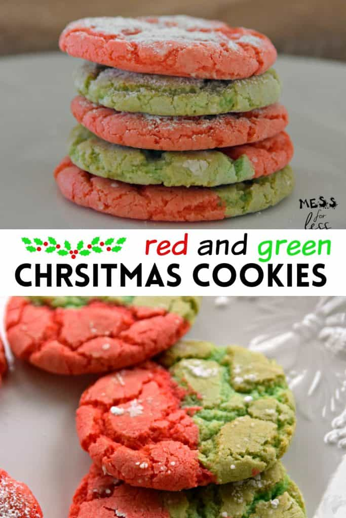 This recipe for Christmas Cake Mix Cookies is one of my favorite cookie recipes. It is so easy, needing just a few ingredients. No one will know it took 15 minutes to make from start to finish because they taste SO good! #cakemixcookies #christmascookies
