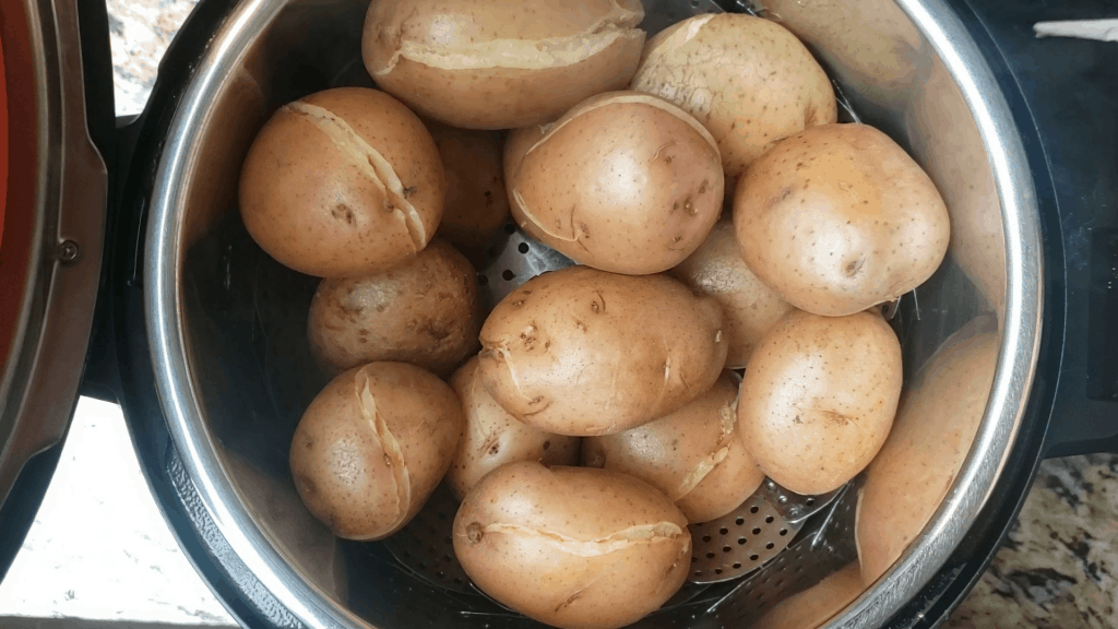 boiled potatoes in the instant pot