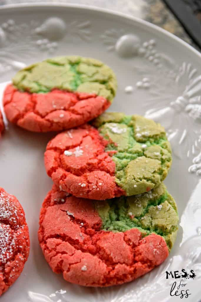 red and green christmas cookies