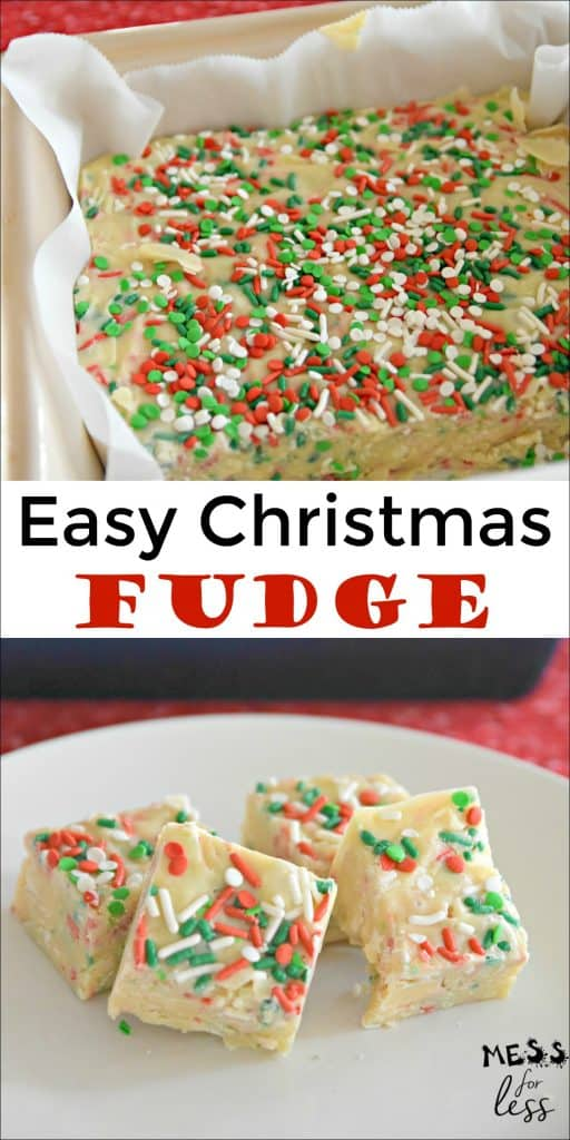 Fudge is the ultimate Christmas treat. Whether you make it for family to enjoy or for a gift, delicious fudge is always appreciated. This 3 ingredient Easy Christmas Fudge is amazing! #fudge #fudgerecipe #easyfudge #Christmasfudge