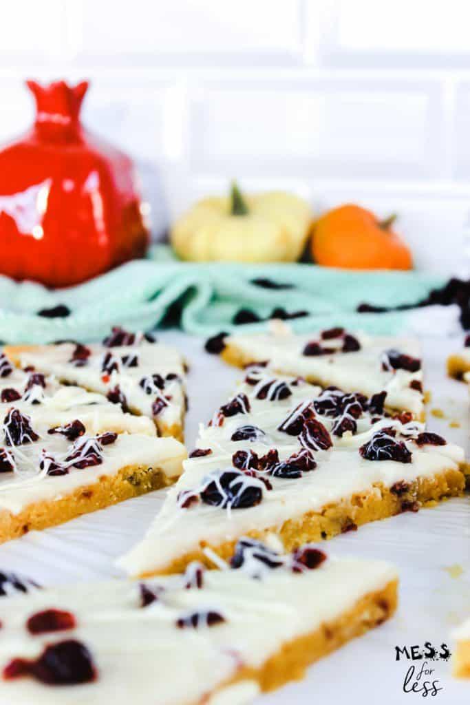 triangles of cranberry bliss bars