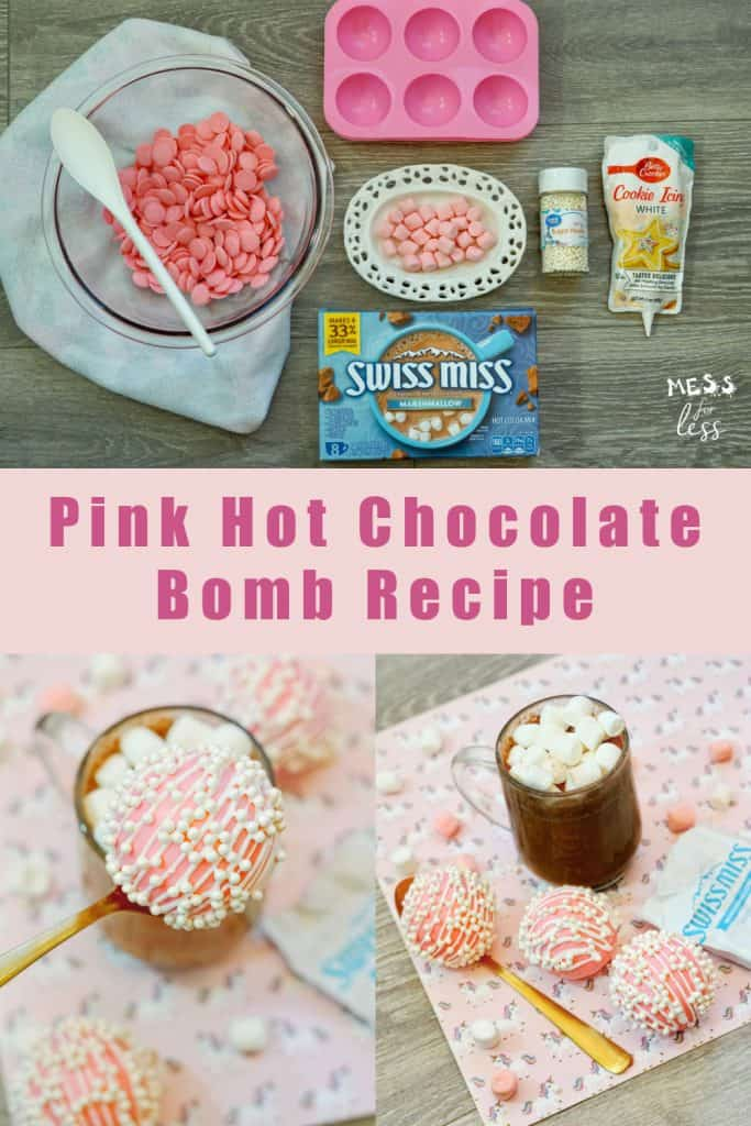 Hot cocoa bombs are all the rage right now. Hot chocolate bombs can be pricey to buy. Luckily, I have an easy recipe for Pink DIY Hot Chocolate Bombs. #hotchocolatebombs #hotcocoabombs