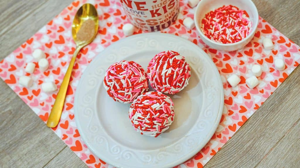 hot chocolate bombs with sprinkles