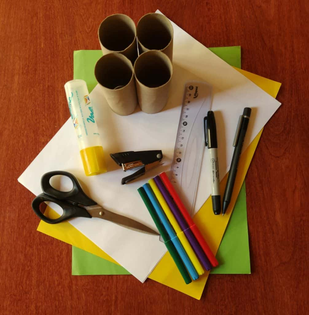 supplies needed to make a worm pencil holder