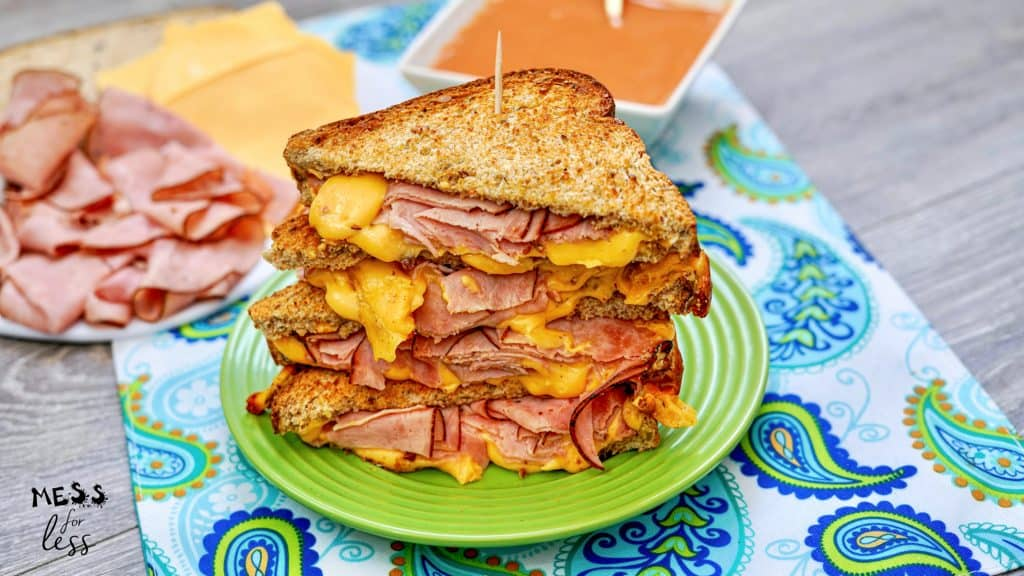 Air Fryer Grilled Ham and Cheese Sandwich