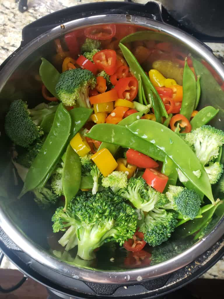 vegetables in an Instant pot