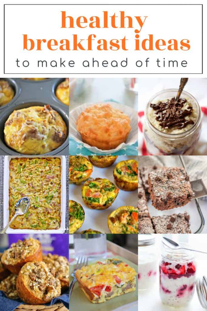 Try these Healthy Breakfast Ideas to Make Ahead of Time so you can simplify your mornings. Don't skip breakfast when it is easy to prepare a healthy option in advance. #breakfast #breakfastideas #healthybreakfast