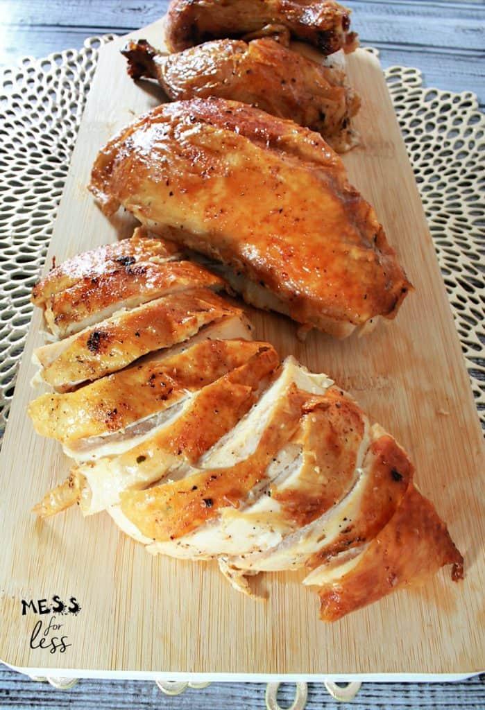 whole cajun roast chicken sliced
