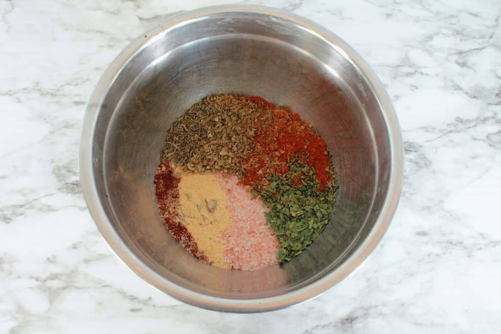 cajun rub in a bowl