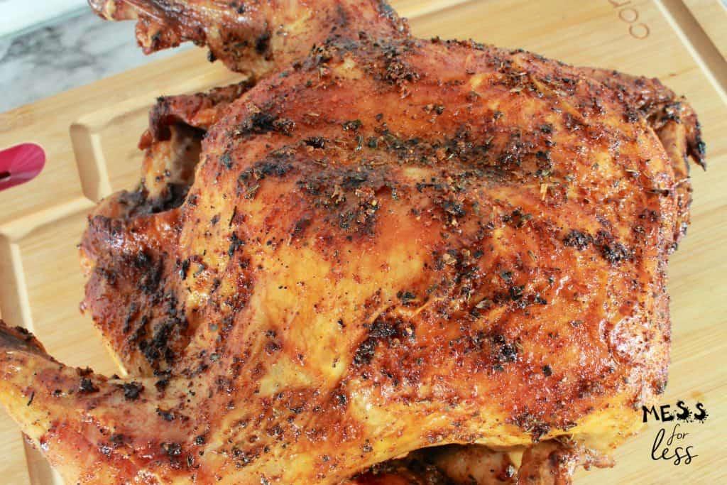 whole Cajun roast chicken