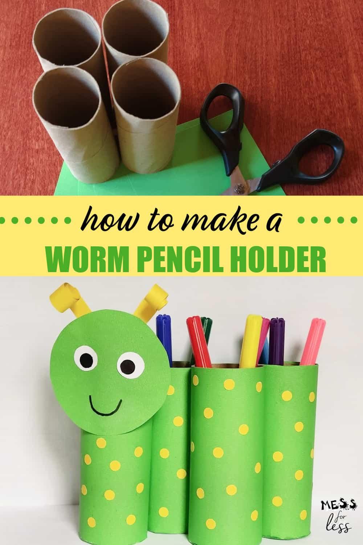 Worm Pencil Holder