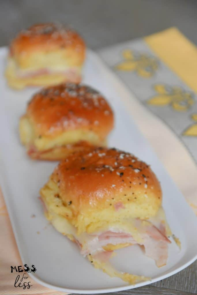 ham and cheese slider casserole