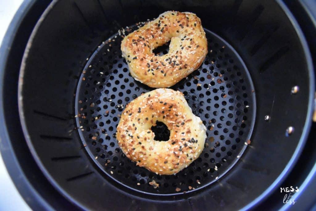Air Fryer Two Ingredient Bagels