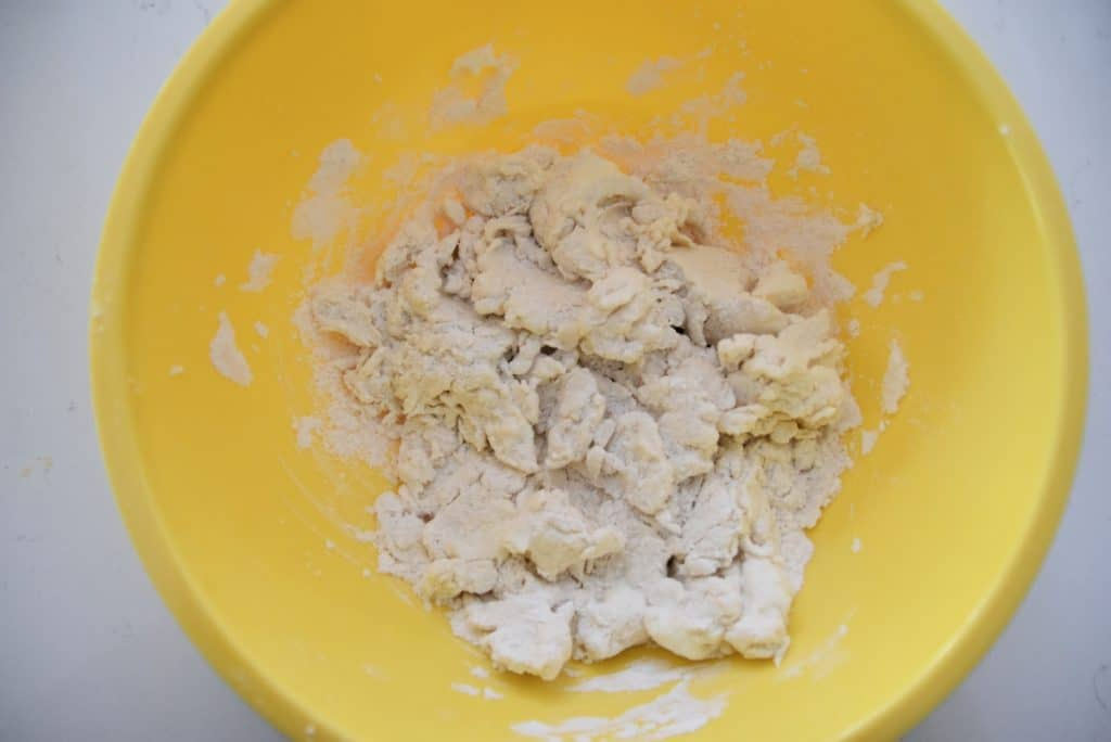 2 ingredient dough in a bowl