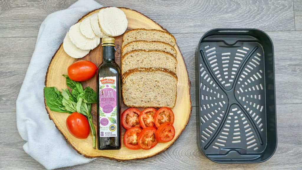 ingredients needed to make a Caprese Air Fryer Sandwich