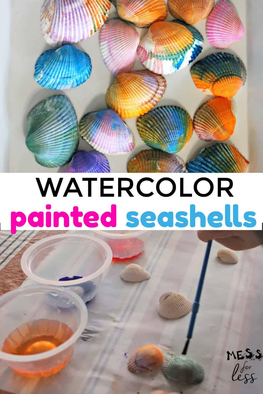 Watercolor Painted Seashells