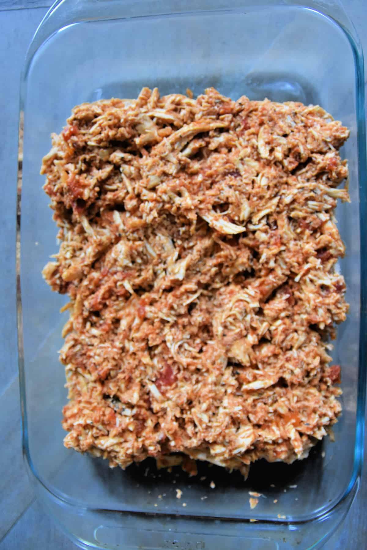shredded chicken on slider buns