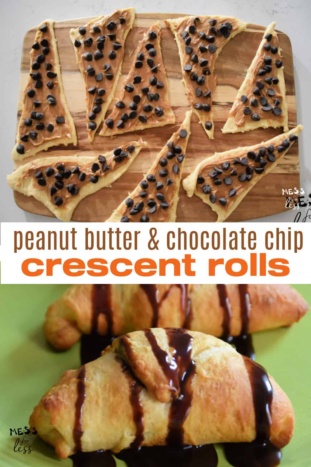 These Peanut Butter Chocolate Chips Crescents are so easy to make! They are ready in just 15 minutes and are the perfect recipe to make with kids.